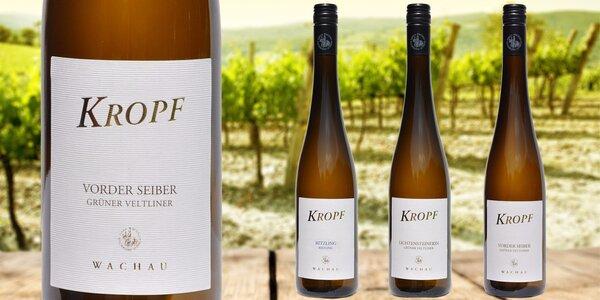 Sada bílých rakouských vín Kropf