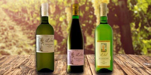Kolekce 6 vín z vinařství Líbal