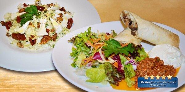 Vegetariánská hostina pro dva v Lehké hlavě