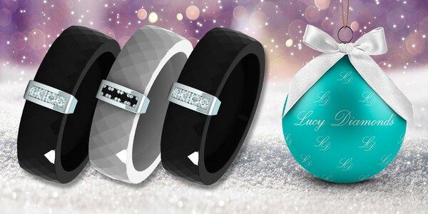Keramické přívěsky a prsteny s diamanty