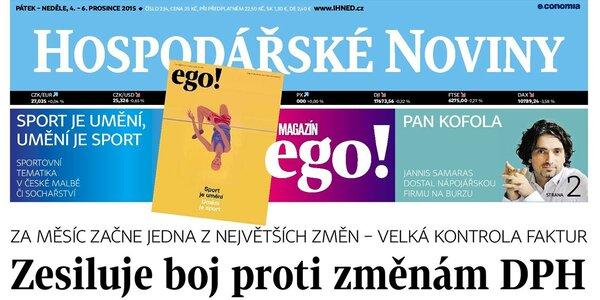 Předplatné Hospodářských novin a magazínu ego!