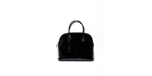 Dámská černá lakovaná kabelka Carla Ferrari