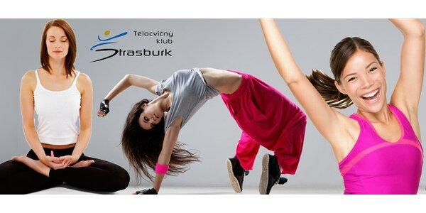 5× cvičení, jóga nebo tanec v tělocvičném klubu Štrasburk