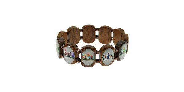 Pohádkový dámský dřevěný náramek Escapulario