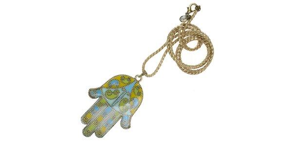 Dámský náhrdelník Escapulario s rukou Fatimy