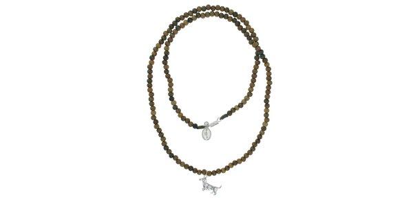Dámský dřevěný náhrdelník Escapulario s jezevčíkem