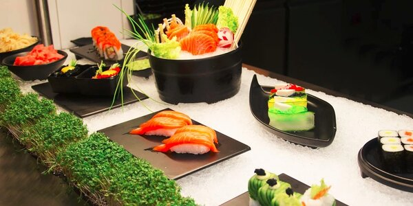 All you can eat grill nebo sushi set v restauraci Guo