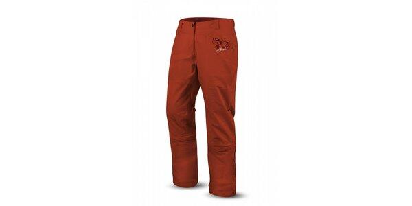 Dámské cihlově červené kalhoty Trimm Pulse