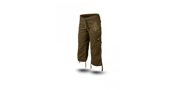 Dámské zelenohnědé 3/4 kalhoty Trimm Sharon
