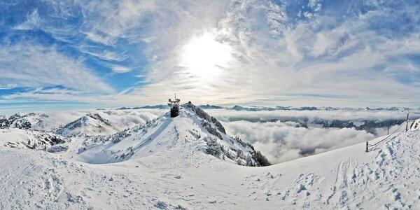 Lyžovačka v rakouských Alpách