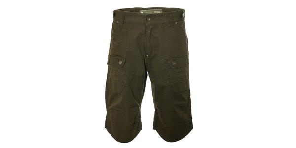 Pánské tmavě zelené kalhoty Trimm Laxo