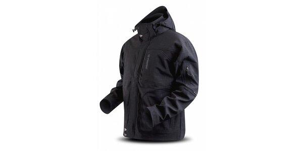 Pánská tmavě šedá softshellová bunda Trimm s potiskem
