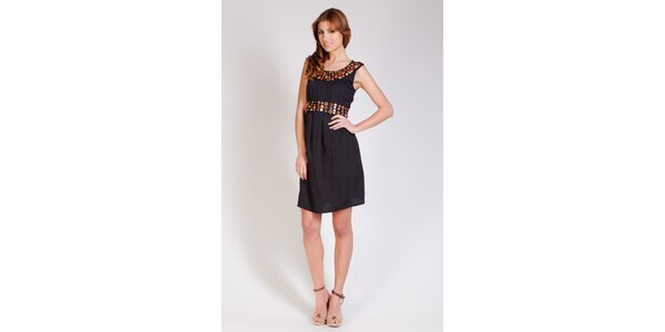 Dámské černé šaty Tonala s korálkovou aplikací