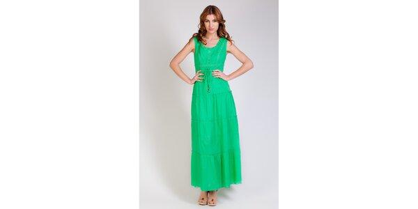 Dámské dlouhé zelené šaty Tonala