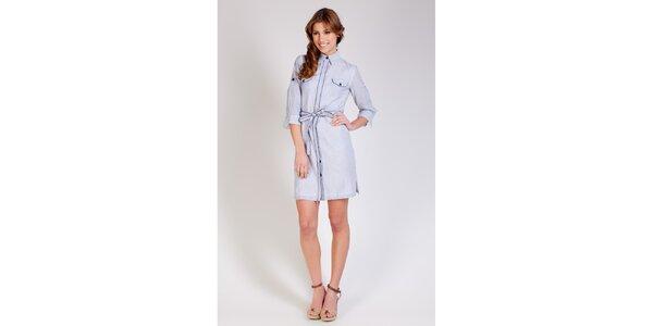 Dámské modro-bílé proužkované šaty Tonala