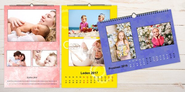 Nástěnný fotokalendář A4 o 13 listech