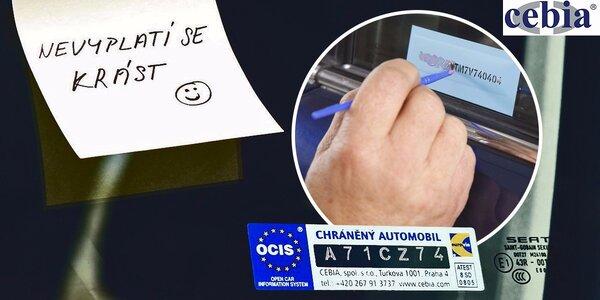 Značení autoskel pro snížení rizika krádeže