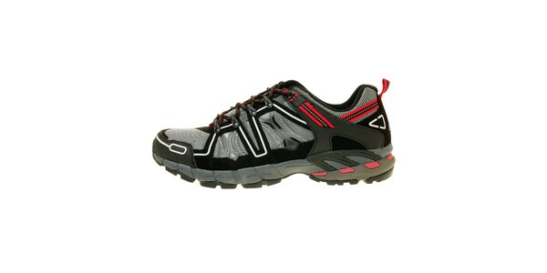 Pánské šedo-červené trekové boty Trimm