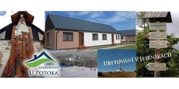 Apartmány U Potoka - ubytování v srdci Jeseníků