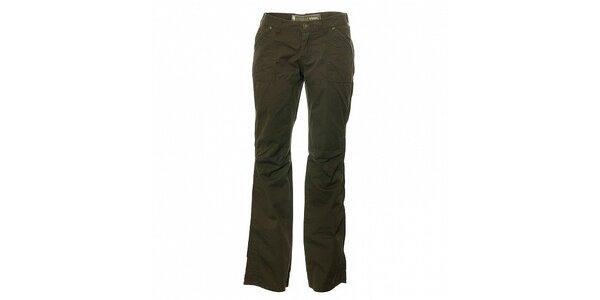 Dámské tmavě zelené kalhoty Trimm Laura