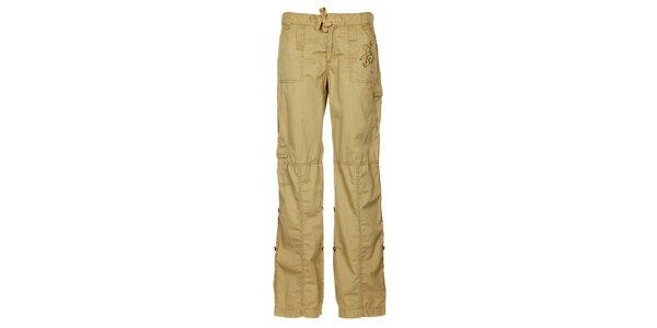 Dámské světle hnědé letní kalhoty Trimm