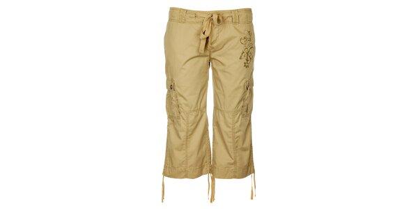 Dámské světle hnědé 3/4 outdoorové kalhoty Trimm