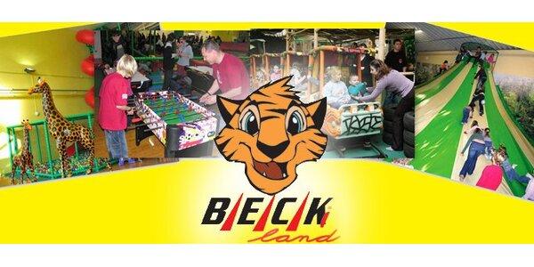 75 Kč za celodenní vstup pro 1 osobu do dětského zábavního centra Beckiland