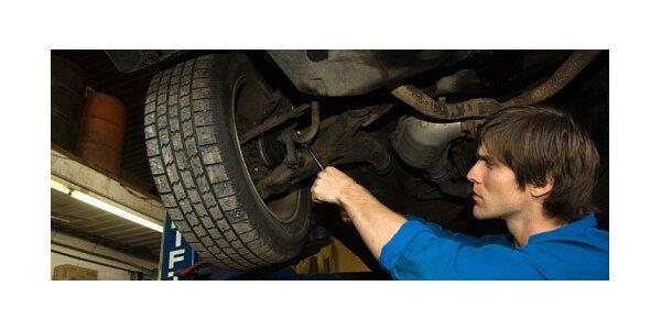 Přehození a vyvážení pneu včetně kontroly podvozkových a brzdových segmentů