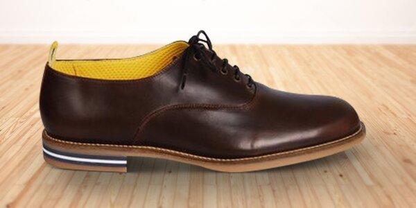 Stylové pánské kožené boty z Anglie