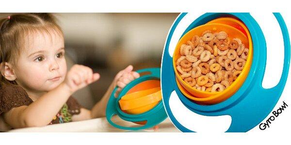 Nevyklopitelná dětská miska Gyro Bowl