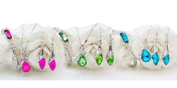 Elegantní 3dílná sada šperků Swarovski Elements