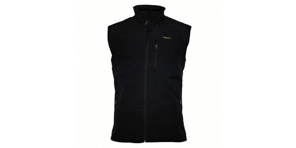 Pánská černá softshellová vesta Envy