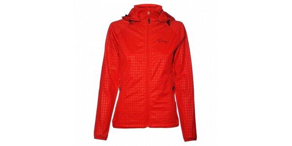 Dámská sytě červená softshellová bunda Envy