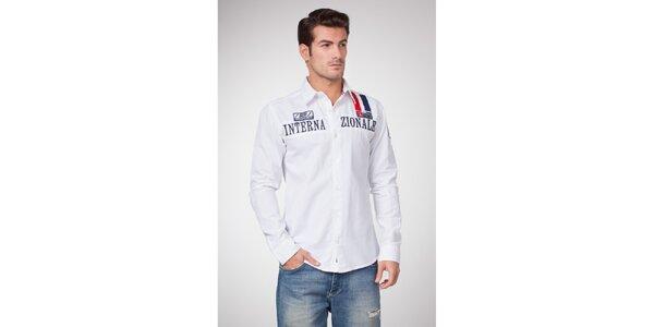 Pánská bílá košile Bendorff s výšivkami