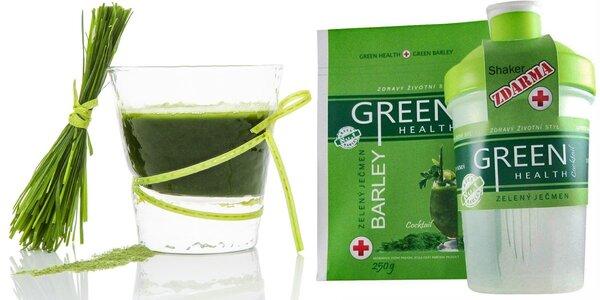 Zelený ječmen včetně šejkru a poštovného
