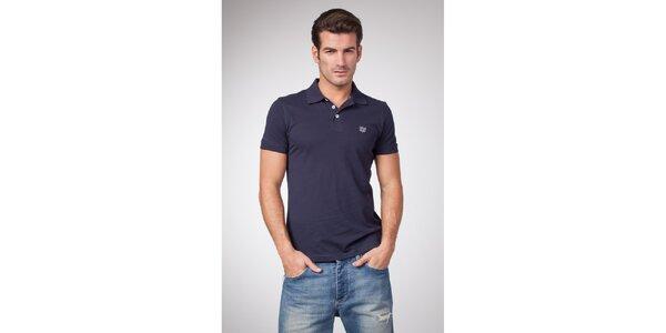 Pánské modré bavlněné polo tričko Bendorff