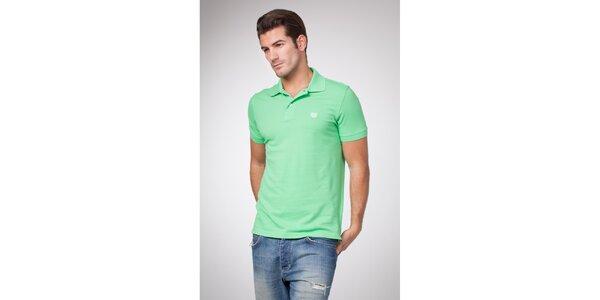 Pánské mátově zelené polo tričko Bendorff