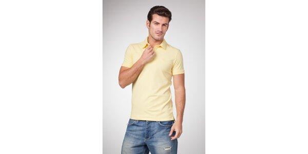 Pánské světle žluté bavlněné polo tričko Bendorff