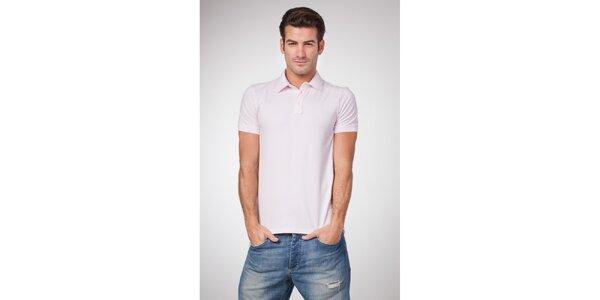 Pánské světle růžové polo tričko Bendorff
