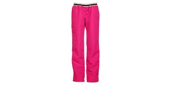 Dámské růžové nylonové tepláky Envy