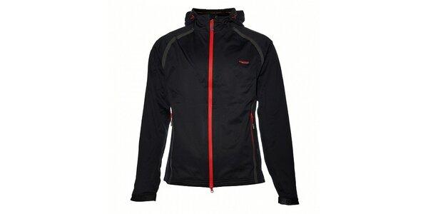 Pánská černá softshellová bunda Envy s voděodolnými zipy a lepenými švy