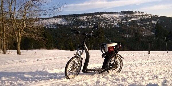 Výlet po Krkonoších na motorové koloběžce