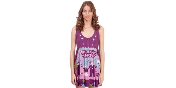 Dámský fialový top Rosalita McGee s hvězdičkami