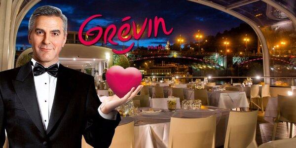 Na Valentýna do muzea Grévin a na palubu lodi