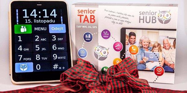 Přehledný tablet pro seniory včetně telefonní aplikace