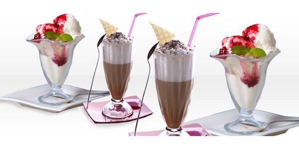 DVA zmrzlinové poháry a DVĚ ledové kávy - oslavte Den dětí!
