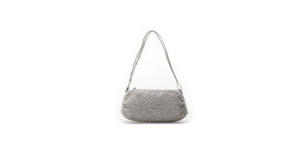 Dámská bílá oválná kabelka se vzorkem Abbacino
