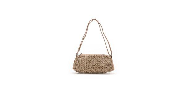 Dámská béžová oválná kabelka se vzorkem Abbacino