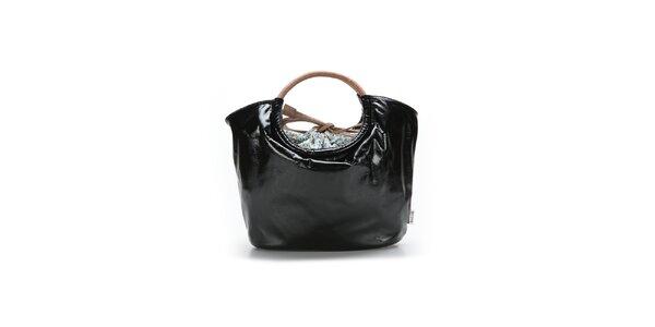 Dámská černá lakovaná kabelka Abbacino