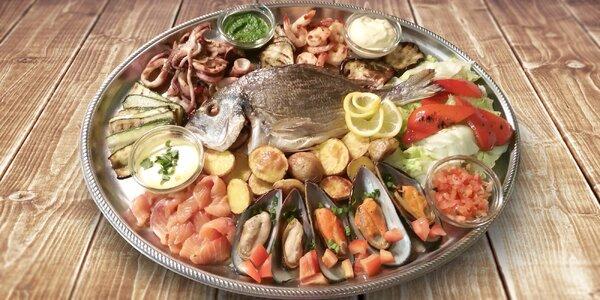 Variace ryb a mořských plodů pro 2–3 osoby